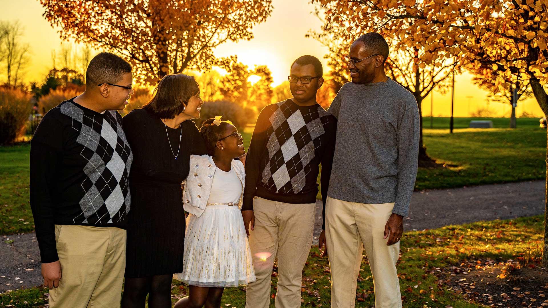 photography family portrait sunset